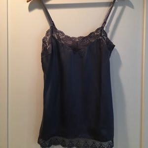 BANANA REPUBLIC Periwinkle Silk and Lace Camisole